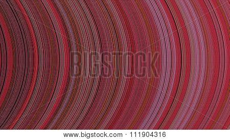 Curve Ribbon Pattern Red