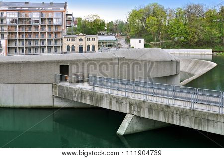 Hydroelectric power plant in Kempten