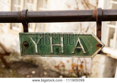 YHA sign in Malham