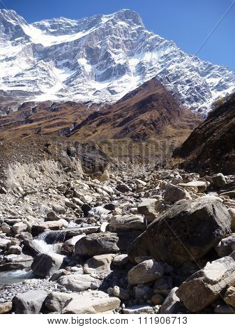 Snow Capped Mountains In Himalaya Landscape