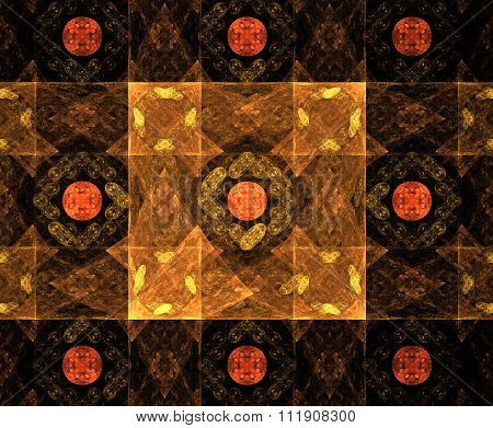 Fractal Image : Beautiful Pattern On A Dark Background.