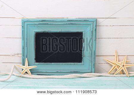 Empty Blackboard And Marine Items