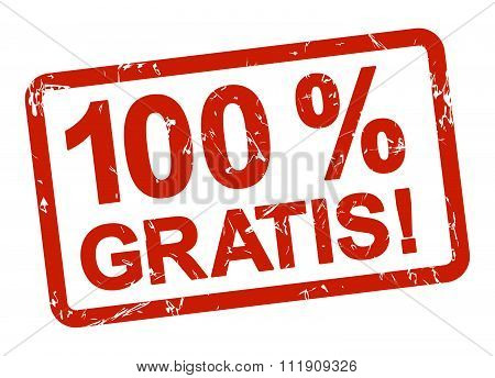 Red Stamp - 100% Gratis!