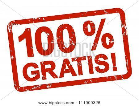 Red Stamp - 100% Gratis!