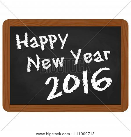 School Slate With New Year 2016 Greetings
