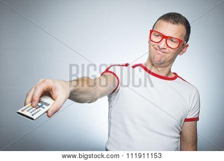 Funny Man With Remote Control