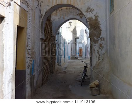 An Old Passage With Bicycle