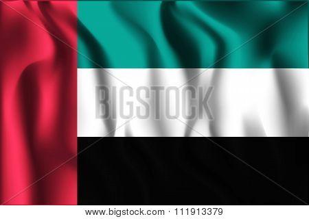 Flag Of United Arab Emirates. Rectangular Shape Icon