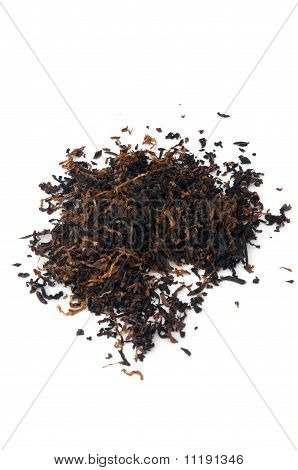 Aislante de tabaco de pipa en blanco