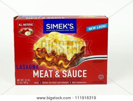 Simek's Lasagna Box