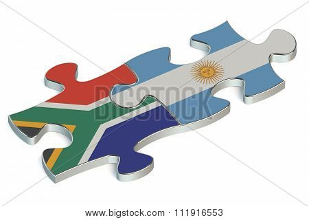 Argentina And South Africa Puzzles From Flags