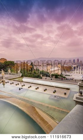 Montjuic Barcelona Magic Fountains