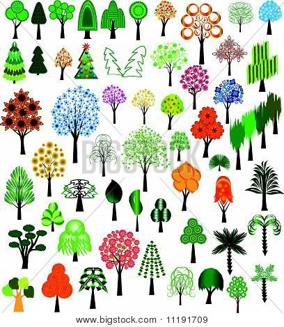 Set of vector of trees