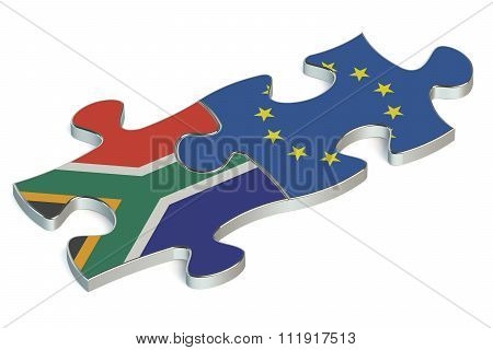 Eu And South Africa Puzzles From Flags