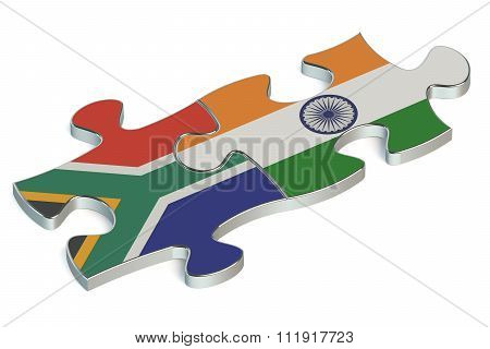 India And South Africa Puzzles From Flags