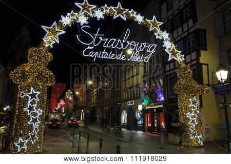 The Arch To Strasbourg Christmas Market .