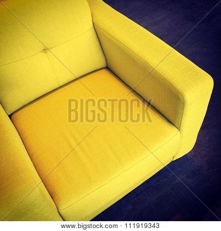 Bright Yellow Armchair