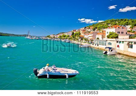 Summer View Of Tisno Coast