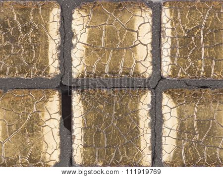 Aged Gold Cracked Mosaic
