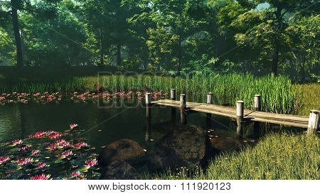 Forest Pond, 3D Cg