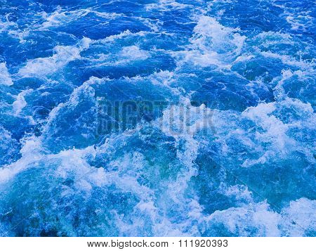 Powerful Stream Of Vibrant Blue Water