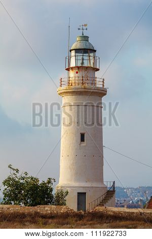 Historic Lighthouse At Paphos, Cyprus