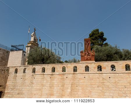 Chapel Of The Madonna And Child Jesus And The Angels In The Area Of The Olive Garden Of Gethsemane I