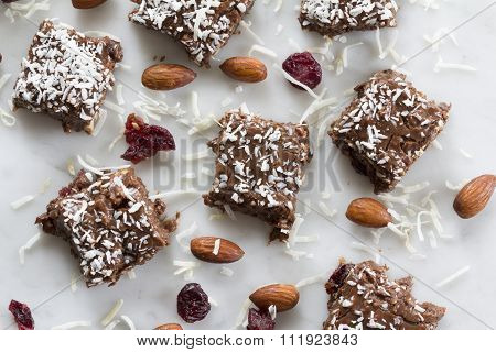 Cranberry Almond Chocolate Fudge from Above