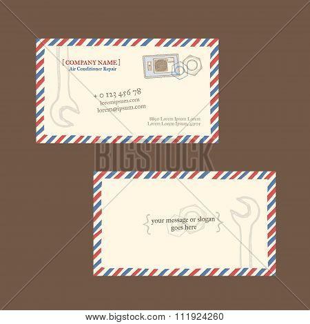 repair business card vector template