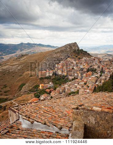 View Of Troina, Sicily