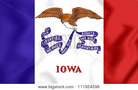 Flag Of Iowa, Usa.