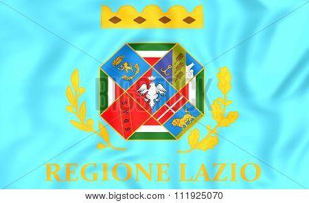 Flag Of Lazio, Italy.