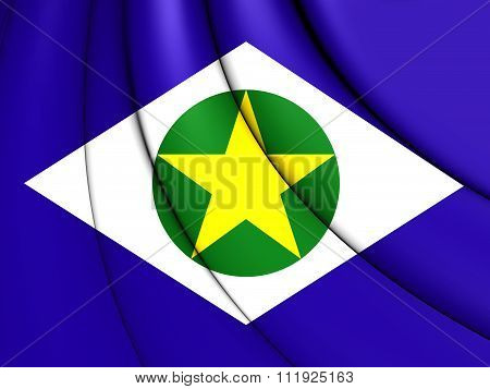 Flag Of Mato Grosso, Brazil.