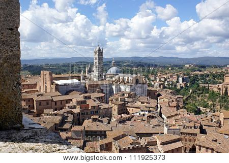Top View Of The Cathedral Of Siena