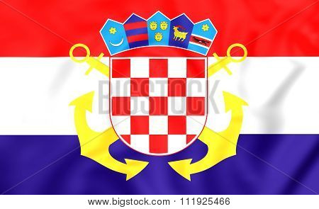 Naval Ensign Of Croatia