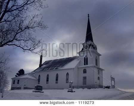 Winter Rural Church