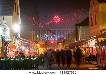 Zagreb Decorated At Advent Time
