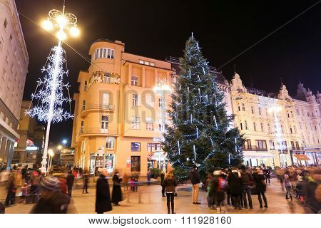 Advent On Central Jelacic Square