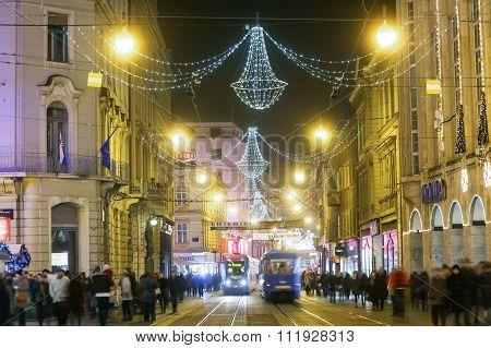 Advent Time In Capital Of Croatia