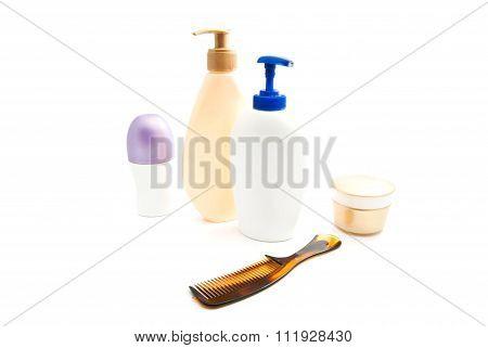 Deodorant, Gel, Cream And Hairbrush