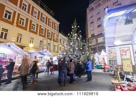 Christmas Souvenir Stands On Jelacic Square