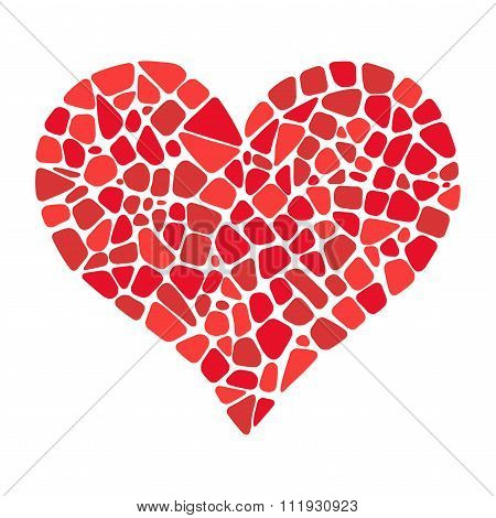 Heart in mosaic style