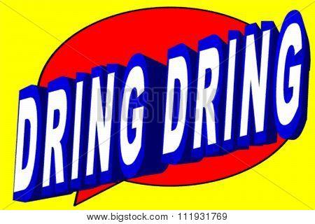 Cartoon dring dring