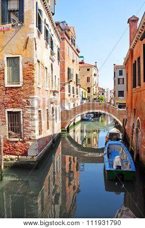Inside Venice street