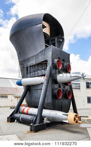 Submarine Bow with Torpedoes and Sonar Dome