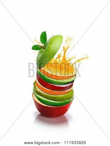 Fruit Slices With Orange Splash