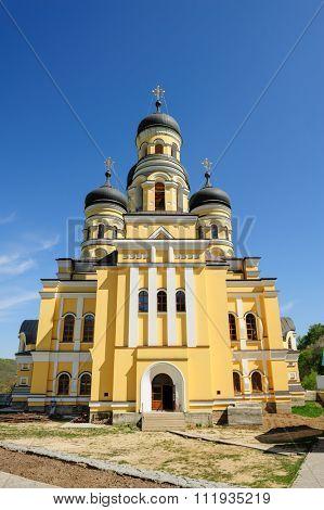 Large Christian Orthodox Church in the Hancu Monastery, Republic of Moldova