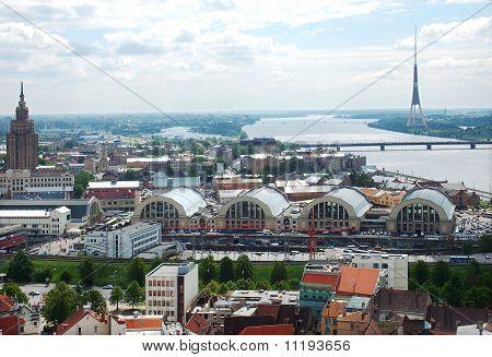 central market of Riga