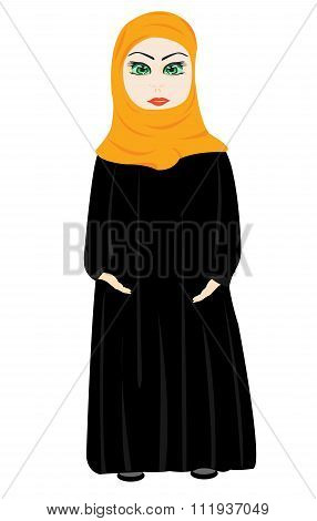 Girl in cloth hijab
