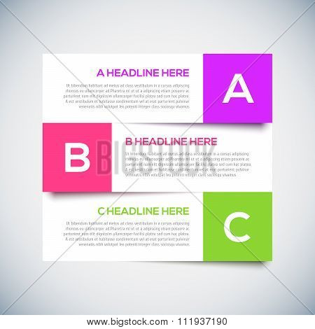 Modern infographics Design Layout with shadow.